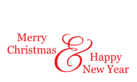 Customize your holiday cards with a self-inking Merry Christmas & Happy New Year stamp. Your choice of 11 ink colors. Free shipping on orders over $45!