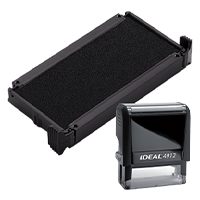 Ideal 6/4912 replacement pad that fits the Ideal 4912 self-inking stamp. 11 ink colors to choose from with free shipping on orders over $15.