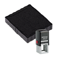 Ideal 6/4923 replacement pad that fits the Ideal 4923 self-inking stamp. 11 ink colors to choose from with free shipping on orders over $15.