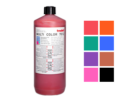 This 1 liter bottle of ink works on all Ideal, Trodat, Cosco or Shiny self-inking stamps. Water-based ink in 7 colors to choose from. Orders over $45 ship free!