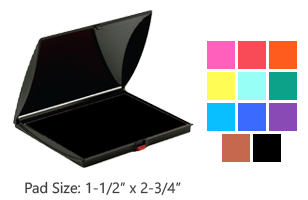This stamp pad has water-based ink available in 11 ink colors to choose from. Last for thousands of stamp impressions and is reinkable. Free shipping on orders over $45!