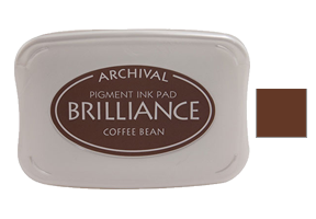 "This 3-3/4"" x 2-5/8"" stamp ink pad comes in coffee bean and is excellent for use on many surfaces. Acid free, water-based. Ships free in 1-2 business days!"