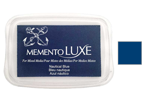 "This 3-13/16"" x 2-11/16"" stamp ink pad comes in nautical blue and is a rich bendable pigment excellent for many surfaces. Ships free in 1-2 business days!"