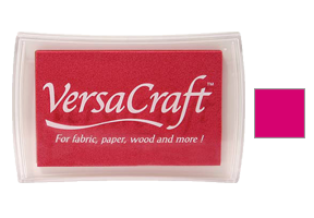 "This 3-3/4"" x 2-1/2"" stamp pad comes in an cherry pink and is ideal for fabrics and other porous surfaces. Acid Free. Ships free in 1-2 business days!"