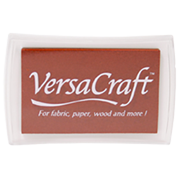 "This 3-3/4"" x 2-1/2"" stamp pad comes in an chocolate brown and is ideal for fabrics and other porous surfaces. Acid Free. Ships free in 1-2 business days!"