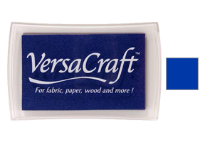 "This 3-3/4"" x 2-1/2"" stamp pad comes in an ultramarine blue and is ideal for fabrics and other porous surfaces. Acid Free. Ships free in 1-2 business days!"