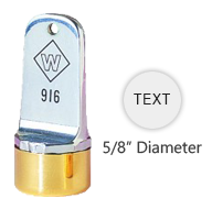 "Personalize this 5/8"" metal inspection stamp with text or simple artwork. Use with industrial inks or traditional stamp pad. Ships in 3-5 business days."