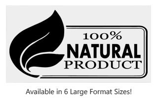 This 100% Natural with Leaf large stock message stamp comes on a wood hand stamp and and in one of 6 sizes. Separate ink pad required. Orders over $25 ship free!