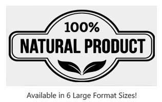 This 100% Natural label style large stock message stamp comes on a wood hand stamp and in one of 6 sizes. Separate ink pad required. Orders over $45 ship free!