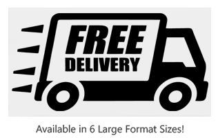 This Free Delivery large stock message stamp comes on a wood stamp and in your choice of 6 sizes. Separate ink pad required. Orders over $25 ship free!