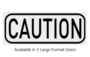 This Rectangle Caution large stock message stamp comes on a wood hand stamp and in one of 5 sizes. Separate ink pad required. Orders over $25 ship free!