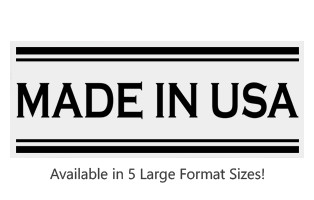 This Rectangle Made In USA large stock message stamp comes on a wood hand stamp and in a choice of 5 sizes. Separate ink pad required. Orders over $25 ship free!