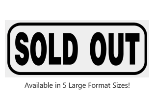 This Rectangle Sold Out large stock message stamp arrives on a hardwood hand stamp and in one of 5 sizes. Separate ink pad required. Orders over $25 ship free!