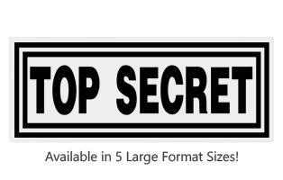 This Rectangle Top Secret stock message stamp comes on a large wood hand stamp and in one of our 5 sizes. Separate ink pad required. Orders over $45 ship free!