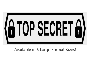 This Rectangle Top Secret with Locks large stock message stamp comes on a wood stamp and in one of 5 sizes. Separate ink pad required. Orders over $25 ship free!