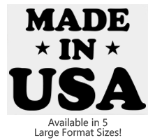 This Made In USA with Stars large stock message stamp comes on a wood hand stamp and and in one of 5 sizes. Separate ink pad required. Orders over $25 ship free!