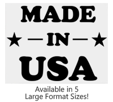 This Made In USA with Stars and Lines large stock stamp comes on a wood stamp and in one of 5 sizes. Separate ink pad required. Orders over $25 ship free!