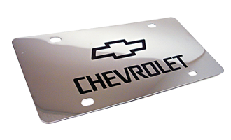 This chrome plated license plate can be engraved w/ your custom text or logo. Fits a standard license plate area and frame. Free shipping on orders over $45.