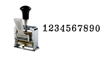 This lever-action numbering machine is made of the highest quality and is ideal for repetative and sequential numbering. Available in 3 ink colors, refillable and long-lasting!