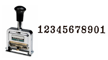 This 11-wheel automatic numbering machine is made of the highest quality and is ideal for repetitive and sequential numbering. Available in 3 ink colors, refillable and long-lasting!