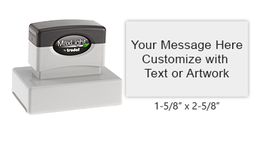 Customize this pre-inked stamp with 8 lines of text or custom artwork. The impression is crisp every time making this an essential home or office tool!
