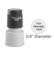 Customize this round pre-inked MaxLight XL-325 with 3 lines of text or artwork, available in 5 ink colors. Free shipping on orders over $45!