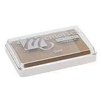 """This 2-1/8"""" x 3-1/4"""" Memories brand stamp pad leaves golden, shimmering and iridescent impressions. Fast & free shipping on orders $45 and over!"""
