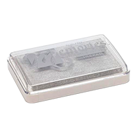"""This 2-1/8"""" x 3-1/4"""" Memories brand stamp pad leaves silver, shimmering and iridescent impressions. Orders over $45 ship free!"""