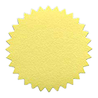 These gold foil embossing seals come in a 40 pack and feature simple peel and stick backing. Orders over $25 ship free!