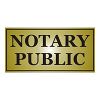 """This stock notary sign is 4"""" x 8"""" and is engraved with Notary Public. Available in 5 sign colors. Orders over $25 ship free!"""