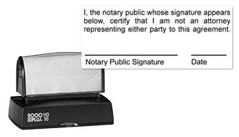 This notary public stamp informs your clients that you are not an attorney and cannot legally perform the duties of one. Orders over $25 ship free!