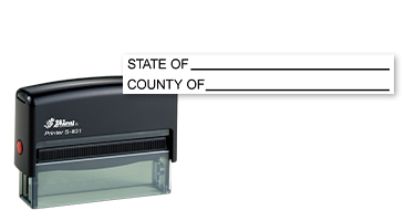 This notary public stamp lets your record the state and country of notary duties on a convient self-inking Shiny S831 stamp mount. Orders over $25 ship free!