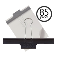 "This 100mm (3.94"") Extra Large Binder Clip holds 85 pages and makes for a great organizational tool for your home or office workspace. Orders over $45 ship free!"