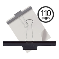 "This 150mm (5.9"") Extra Large Binder Clip holds 110 pages and makes for a great organizational tool for your home or office workspace. Orders over $45 ship free!"