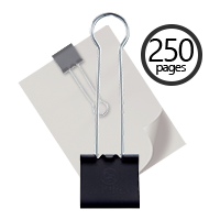 "This 60mm (2.4"") Extra Large Binder Clip holds 250 pages and makes for a great organizational tool for your home or office workspace. Orders over $45 ship free!"