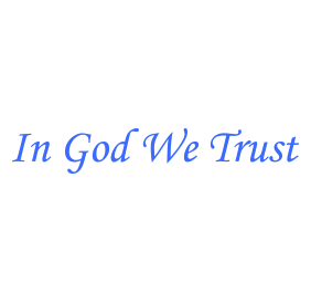 "This self-inking patriotic stamp reads ""In God We Trust"" and is approximately 7/8"" x 2-3/8"". Available in 11 ink colors. Orders over $25 ship free!"
