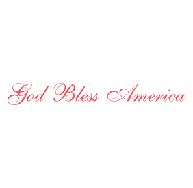 "This God Bless America script self-inking patriotic stamp has an impression size of 7/8"" x 2-3/8"" and is available in 11 ink colors. Orders over $25 ship free!"