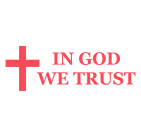 "This IN GOD WE TRUST self-inking patriotic stamp is 7/8"" x 2-3/8"" with a Cross design and is available in 11 ink colors. Orders over $25 ship free!"