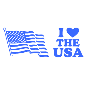 "Display pride and patriotism with this I LOVE THE USA self-inking stamp. It is available at 7/8"" x 2-3/8"" and in 11 ink colors. Orders over $15 ship free!"