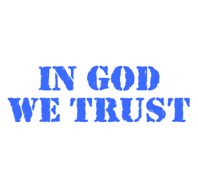 "Show your patriotism with this stencil font IN GOD WE TRUST self-inking stamp. Impression is 7/8"" x 2-3/8"" and comes in 11 ink colors. Orders over $25 ship free!"
