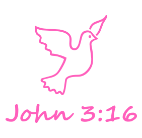 "A dove tops this 1-5/8"" diameter self-inking round stamp which reads John 3:16 and comes in a choice of 11 stunning ink colors. Orders over $15 ship free!"