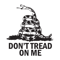 "This DON'T TREAD ON ME self-inking round stamp w/ rattlesnake design is 1-5/8"" diameter and features 11 vibrant ink color choices. Orders over $45 ship free!"