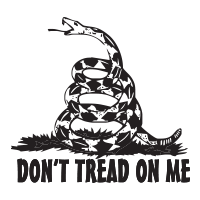 "Show your patriotism with this 1-5/8"" diameter DON'T TREAD ON ME self-inking round stamp. Choose from 11 stunning ink colors. Orders over $25 ship free!"