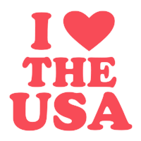 "Display your patriotism with this 1-5/8"" diameter I HEART THE USA self-inking round stamp. Choose from 11 stunning ink colors. Orders over $45 ship free!"