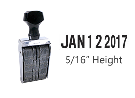 """This Pullman bold face dater, is a non self-inking hand stamp that includes, full year with 5/16"""" characters. Use with stamp pad, sold separately."""