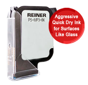 This jetStamp refill cartridge fits models 1025 and comes in an aggressive black ink. Great for non-porous surfaces like glass or metal. Free shipping over $45!