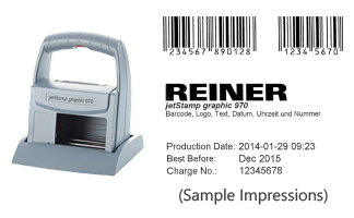 This jetStamp 970 is the solution when you need to print text, numbers, graphics, barcodes, dates and times, and still remain mobile! Orders over $25 ship free!