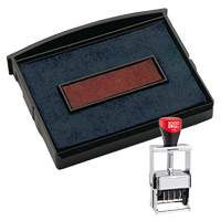 This 2 color Cosco replacement pad comes in your choice of 11 ink colors! Fits the Cosco model 3160 self-inking stamp. Orders over $45 ship free!