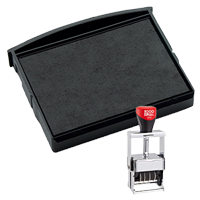 This Cosco replacement pad comes in your choice of 11 ink colors! Fits Cosco model 3160 self-inking stamps. Orders over $45 ship free!