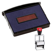 This 2 color Cosco replacement pad comes in your choice of 11 ink colors! Fits the Cosco model 3360 self-inking stamp. Orders over $45 ship free!